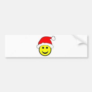 Cara del smiley de Navidad Pegatina Para Coche