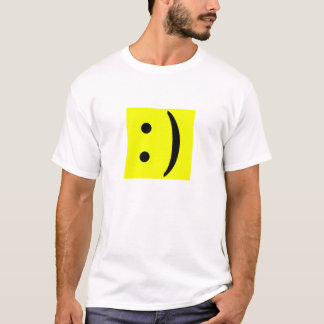 Cara del smiley del texto del ASCII Camiseta