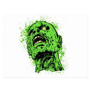 Cara del zombi tarjetas postales