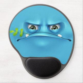 cara divertida azul alfombrilla de ratón con gel