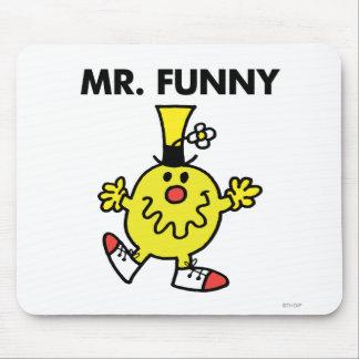 Cara divertida de Sr. Funny el | Alfombrilla De Ratón