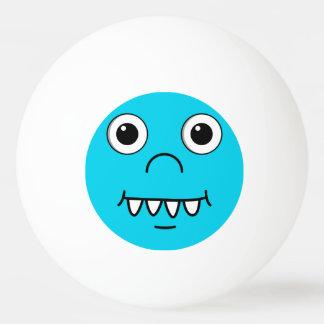 Cara divertida del dibujo animado pelota de tenis de mesa