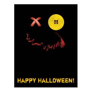 Cara divertida del feliz Halloween Postal