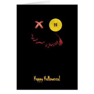 Cara divertida del feliz Halloween Tarjetón