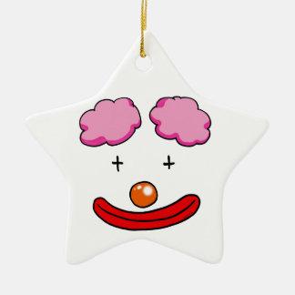 Cara divertida del payaso ornamento para arbol de navidad