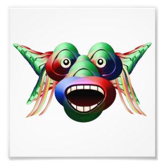 Cara divertida futurista del carácter del monstruo foto