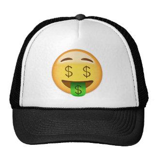 Cara Emoji de la Dinero-Boca Gorros Bordados