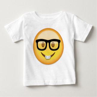 Cara Emoji del empollón Camiseta De Bebé