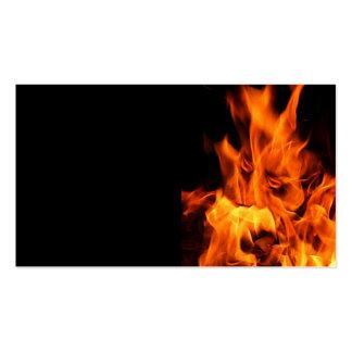 Cara en las llamas plantilla de tarjeta de negocio