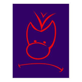 Cara enfado face annoyance tarjetas postales