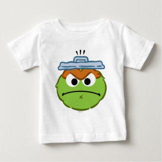 Cara enojada de Óscar Camiseta De Bebé
