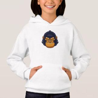 cara enojada del gorila del mono
