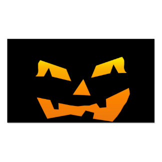 Cara fantasmagórica de la calabaza de Halloween de Tarjetas Personales
