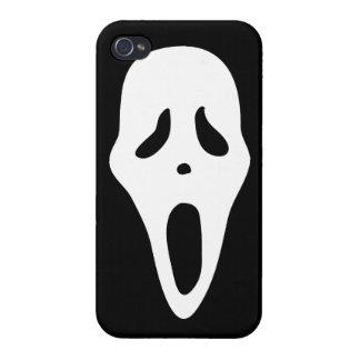 Cara fantasmagórica divertida del grito del fantas iPhone 4 protectores