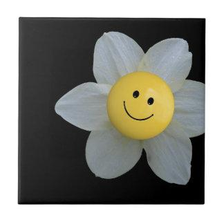 Cara feliz azulejo cuadrado pequeño