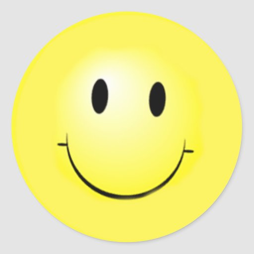 Cara feliz básica en los pegatinas etiquetas redondas | Zazzle