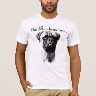 Cara feliz de Bullmastiff Camiseta