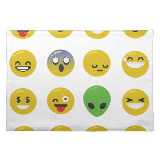 Cara feliz de Emoji Salvamanteles