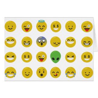 Cara feliz de Emoji Tarjeta De Felicitación