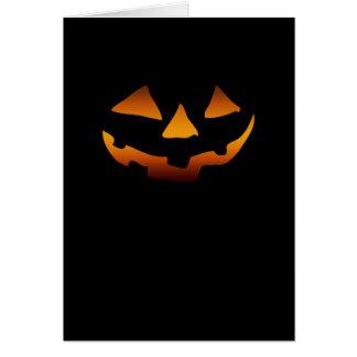 Cara feliz de la calabaza de Halloween Tarjetas