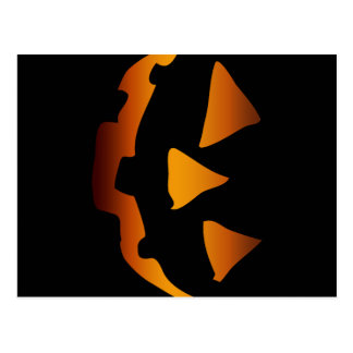 Cara feliz de la calabaza de Halloween Tarjeta Postal
