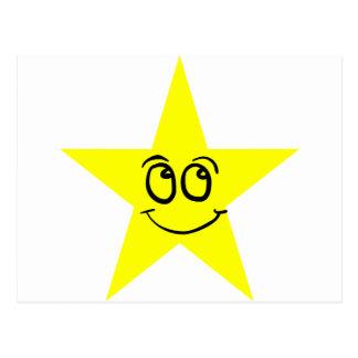 Cara feliz de la estrella tarjeta postal