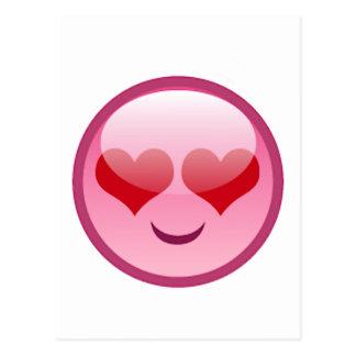 Cara feliz de Lovestruck Postal