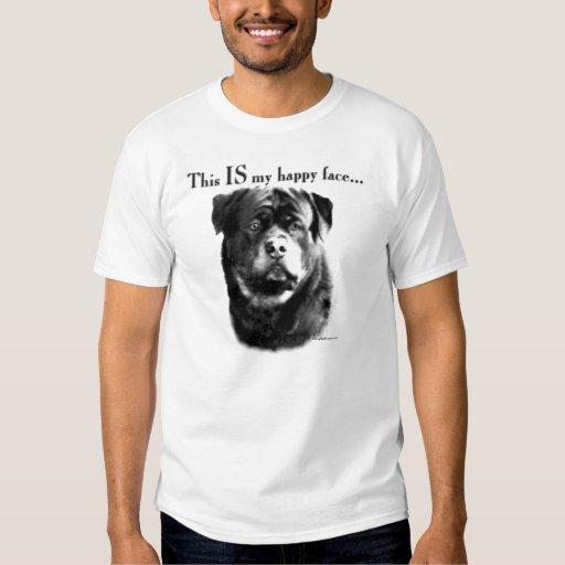 Cara feliz de Rottweiler Camisetas