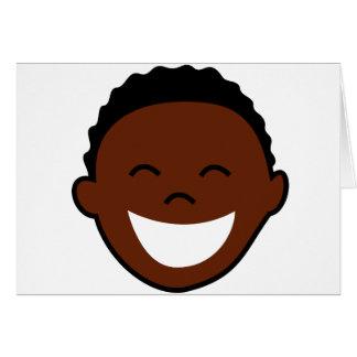 Cara feliz del muchacho tarjeta de felicitación