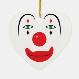 Cara feliz del payaso ornamento de navidad