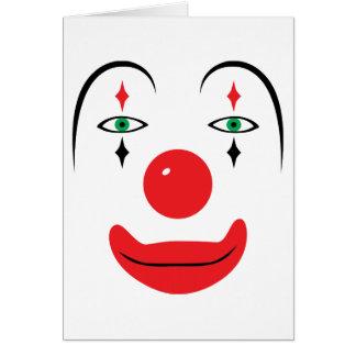 Cara feliz del payaso tarjeta