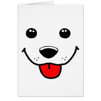 Cara feliz del perrito tarjeta de felicitación