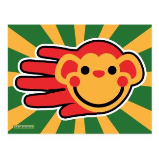 Cara feliz del smiley de Red Monkey Postal