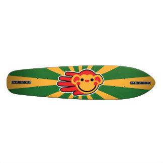 Cara feliz del smiley de Red Monkey Monopatin Personalizado