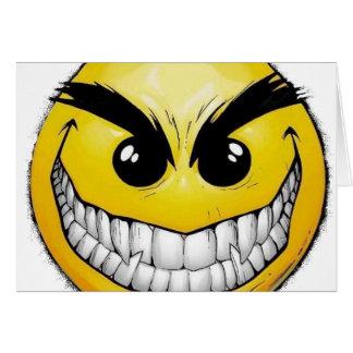 Cara feliz enojada tarjeta de felicitación
