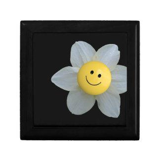 Cara feliz joyero cuadrado pequeño