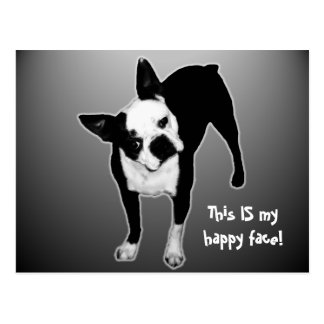Cara feliz - postal