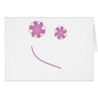 Cara feliz tarjetas