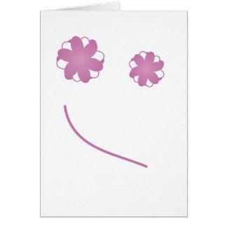 Cara feliz tarjeta de felicitación