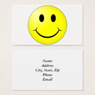 Cara feliz tarjeta de visita