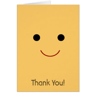 Cara feliz tarjeta pequeña