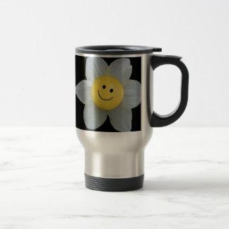 Cara feliz taza de viaje