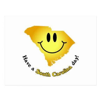 ¡Cara feliz - tenga un día de Carolina del Sur! Postal