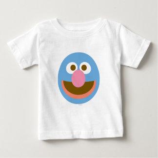 Cara grande del bebé de Grover Camiseta De Bebé