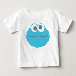 Cara grande del bebé del monstruo de la galleta camiseta de bebé