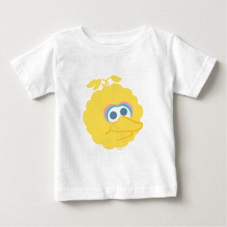 Cara grande del bebé grande del pájaro camiseta de bebé
