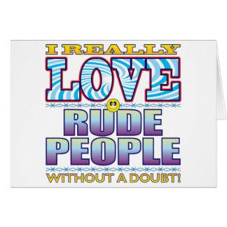 Cara grosera del amor de la gente tarjeta de felicitación