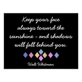 Cara hacia la cita de Sun - de Whitman - impresión