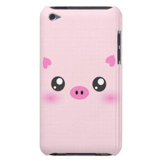 Cara linda del cerdo - minimalism del kawaii iPod touch Case-Mate fundas