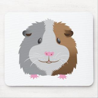 cara linda del conejillo de Indias Alfombrilla De Ratón